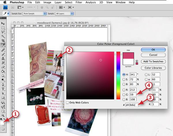 Webkleur pikken in Photoshop